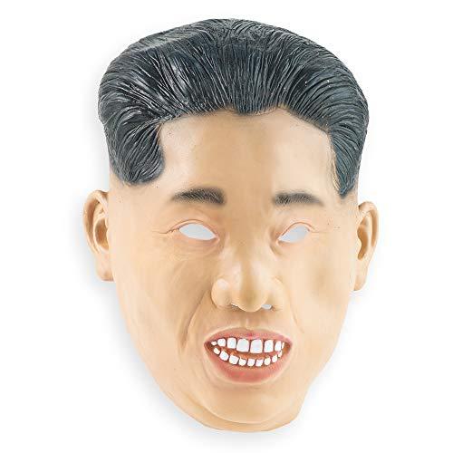 THE TWIDDLERS Neuheit Menschliches Gesicht Latex Maske - Kim Jong Un - Koreanischer Diktator - Brillant für Halloween Partys saisonale Dekoration - Verkleidung - Karneval usw.