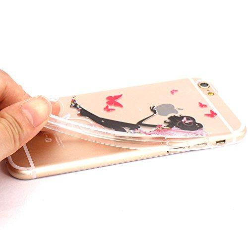iPhone 6 Coque, JIAXIUFEN TPU Coque Silicone Étui Housse Protecteur pour iPhone 6 6S - Cat Music Swing Color06