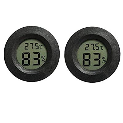 INRIGOROUS Reptile Thermometer, Pack of 2 digital hygrometer thermometer Gauge Terrarium Hygrometer Lizard Spider Tortoise Tank Switchable Celsius Fahrenheit from INRIGOROUS