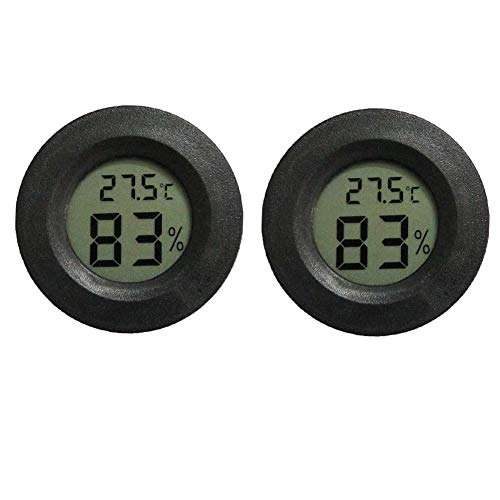 INRIGOROUS Termómetro para Reptil, Paquete de 2 termómetros Digitales de higrómetro, termómetro...