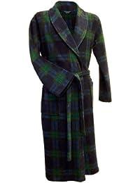 Robe de chambre ecossais en maille polaire en tartan Black Watch