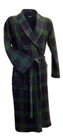 Robe de chambre ecossais en maille polaire en tartan Black Watch (XXL)