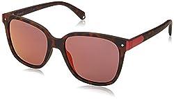 Polaroid Mirrored Wayfarer Womens Sunglasses - (PLD 6036/S N9P 53OZ|53|Red Color)