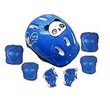 WRF Set di Ingranaggi protettivi per Pattini per Bambini di Sette, Equilibrio Car protettore o Pattinaggio monocasco monocasco monouso Sport Protettivo, per la Sicurezza del Vostro Bambino,Blue