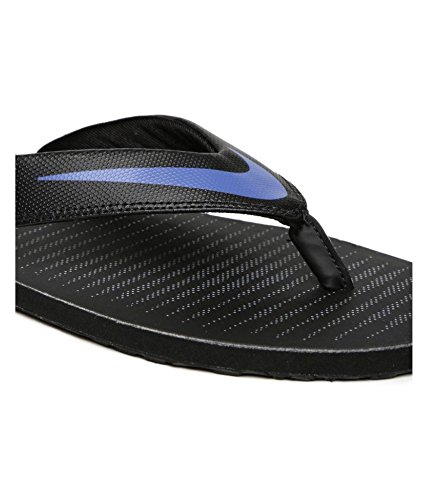 7b004f232007 Buy Nike Men s Chroma Thong 5 Black Comet Blue - Cool Grey Flip Flops on  Amazon
