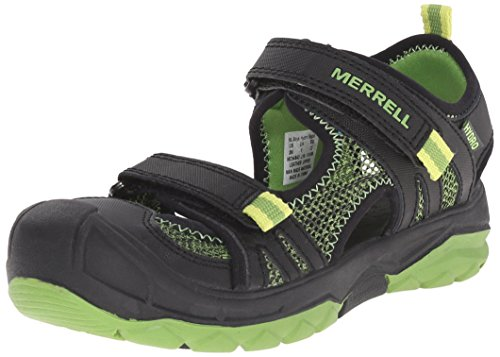 Merrell, Jungen Ml-B Hydro Rapid Sport- & Outdoor Sandalen, Schwarz (Black/Green),29 EU (10 UK)