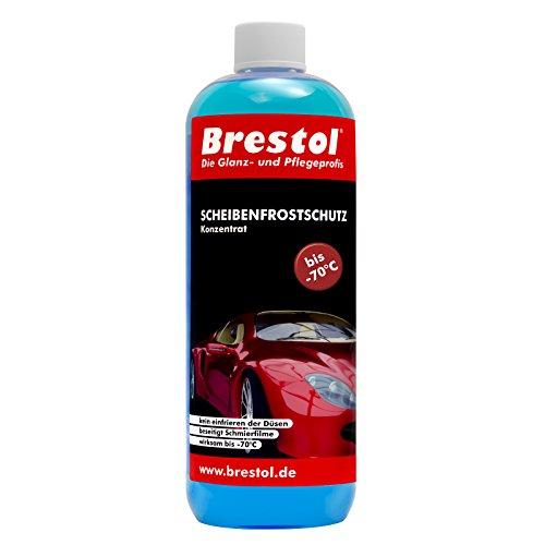 Brestol Scheibenfrostschutz 1000 ml Konzentrat -70 °C - Waschanlagenzusatz Antifrost Anti-Frost Klarsicht Enteiser Scheibenenteiser Klare Sicht Konzentrat