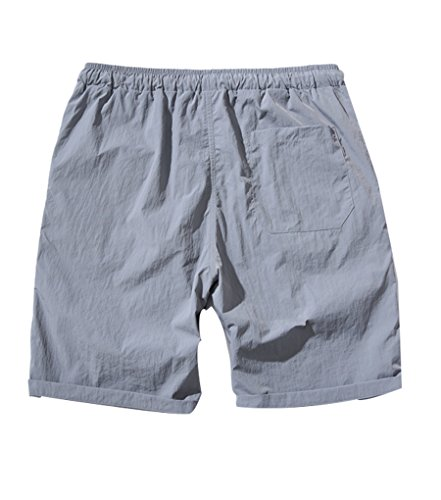 NiSeng Homme Eté Casual Grandes Tailles Slim Séchage rapide Shorts De Bain Boardshorts Plage Swim Surf Shorts Maillot De Bain Gris clair