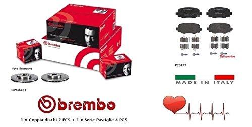 08936421-P23177 Kit Dischi e Pastiglie Freno Posteriori Brembo
