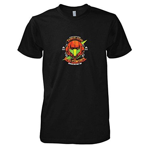 Kostüm Controller Nintendo (TEXLAB - Samus Bug Control - Herren T-Shirt, Größe XL,)