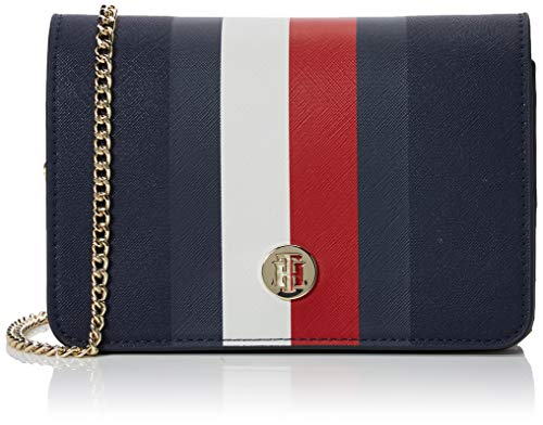 Tommy Hilfiger Damen Honey Crossover Corp Umhängetasche, Weiß (Corporate), 13.5x20.4x7.5cm