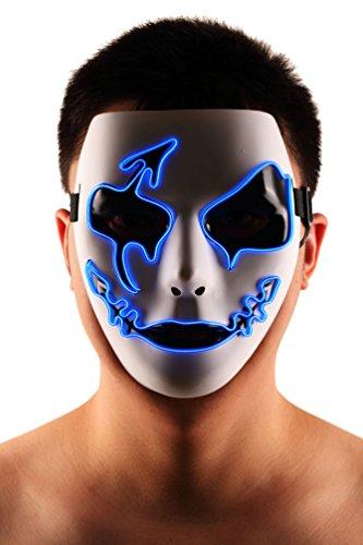 Brinny EL Wire Drahtmaske Leuchten Maske LED Leucht Leuchtmaske Make Up Partymaske mit Batterie Box Kostüme Mask Weihnachten Tanzen Party Nacht Pub Bar Klub 15