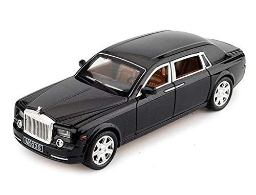 1:24 Rolls-Royce Phantom Diecast Sound & Light & Pull Zurück Modell Spielzeugauto Kasten Modelle Fahrzeuge(Black) - Phantom Rolls-royce Modell