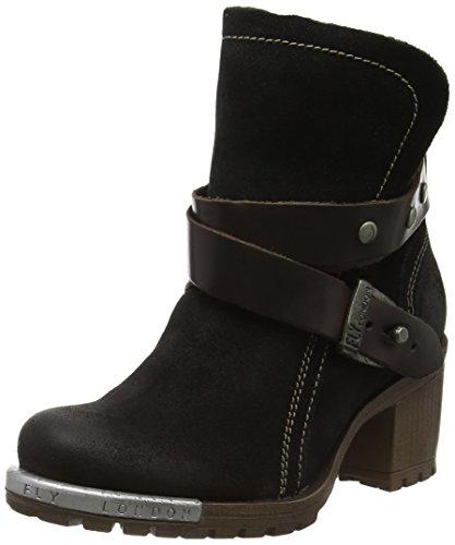 FLY London Damen Lok Chukka Boots Schwarz (Black/dkbrown 010)