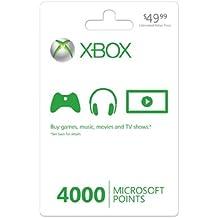 Microsoft Xbox LIVE 4000 Points Card (Xbox 360) US - Software de licencias y actualizaciones (XBOX 360)