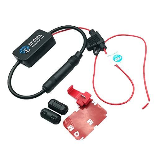 ntenne Signal Verstärker Antenne Antennenverstärker Signalverstärkung 12V Audio Stereo FM AM für Fahrzeug KFZ Radio Autoradio Universal Booster ()