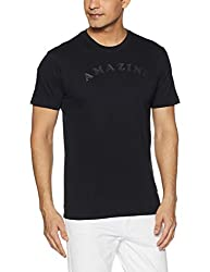 John Players Mens T-Shirt (8907349063968_ZCMCTSS170007002_Medium_Jet Black)