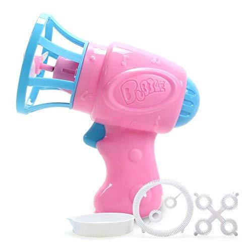 te Blasenpistole elektrischer Mini-Ventilator automatische Magische Blasengebläse für Kinder Spielzeug Zwei Arten Düsen ()