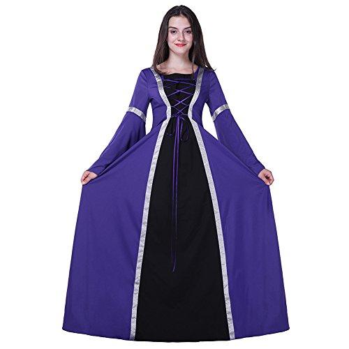 Costume de Sorcière sexy Robe Princesse jeu de rôle Cosplay Halloween sorcière,Violet,L (Halloween Jeux Fille De)