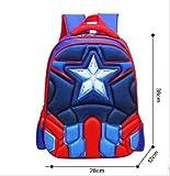 Zaino WEN FENG Superman Batman Spiderman Captain America Boy Girl Bambini Kindergarten Scuola Borsa Teenager Schoolbags Bambini Studente Zaini 38x12x28 cm piccole dimensioni