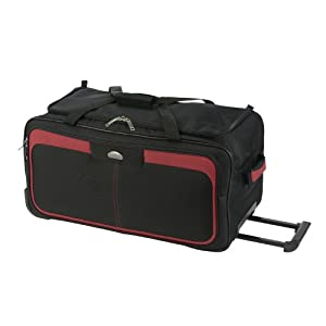 Skyflite Fiesta Large Duffel Bag with Wheels, Wheeled Holdall (black)