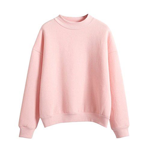 ESHOO Femme Casual Sweat-shirts Pull T-shirts Hiver Tops à Manches Longues