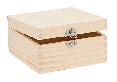Glorex GmbH 6 1682 103 Holzbox aus Kiefernholz, quadratisch, FSC Mix, ca. 16 x 16 x 8,5 cm Preisvergleich