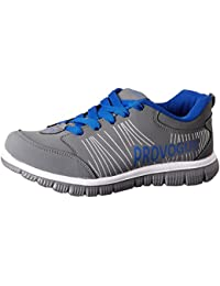 Provogue Men's Grey and Blue Running Shoes - 7 UK …