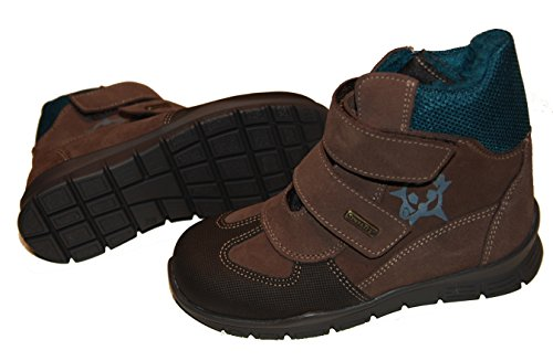 Däumling Chaussures pour enfants, Haute Chaussures Chaussures d'hiver, chaude Doublure, Cuir Chaussures Marron - braun (Turino ardesia)