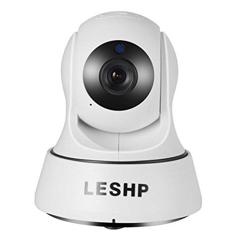 Galleria fotografica Telecamera di Sorveglianza 720P HD Wireless IP Camera WiFi Videocamera di Sicurezza con Audio Bidirezionale, Visione Notturna Pan / Tilt, Rilevamento Del Movimento per iOS Android PC