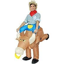 Inflable Toro De Halloween De Lujo Vestido De Caballo Vaquero Partido Traje De Cosplay