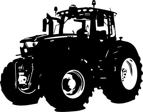 Wandtattoo - JOHN DEERE - Traktor, Landwirtschaft, Agra, Ackerschlepper // Farb- und Größenwahl (Türkis - 780 mm x 600 mm) (Türkis Bauern)
