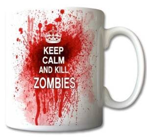 uglymug - Tazza in ceramica con scritta Keep Calm and Kill Zombies