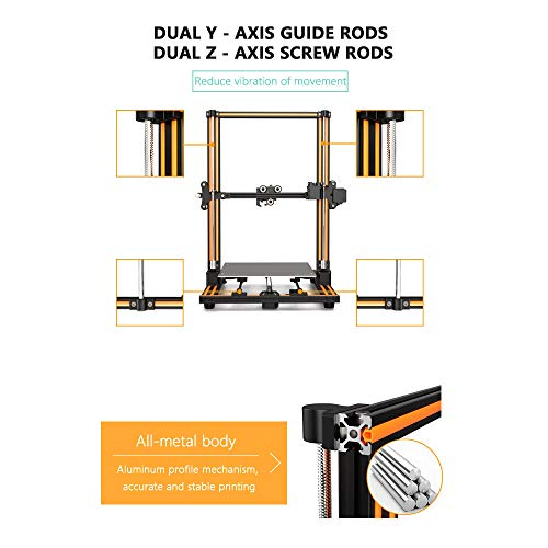 Aibecy Anet E16 DIY 3D-Drucker Hochpräzise Selbstmontage 300 * 300 * 400mm Große Druckgröße Aluminiumlegierung Rahmen LCD Display Auto Faden Fütterung - 4