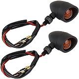 2pcs Clignotants Moto LED Optique Feux Eclairage Phare Lumière Ambre