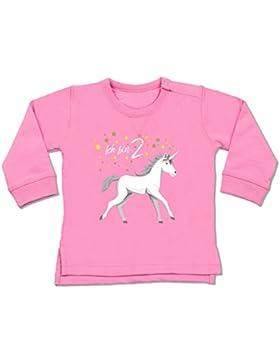 Geburtstag Baby - 2. Geburtstag Einhorn - Baby Pullover