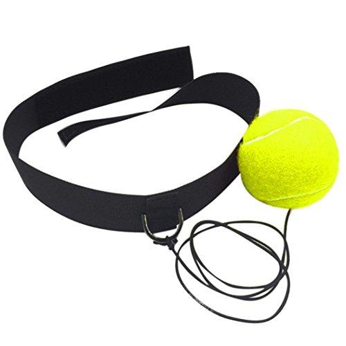 HKFV Kampf Ball mit Kopfband für Reflex Speed Training Boxing Boxing Punch Übung Boxen Training...