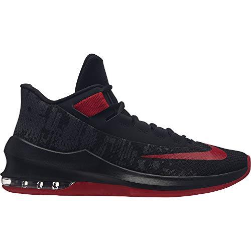 NIKE Men's Air Max Infuriate 2 Mid Black/University Red Basketball Shoes (AA7066-066) (UK-7 (US-8))