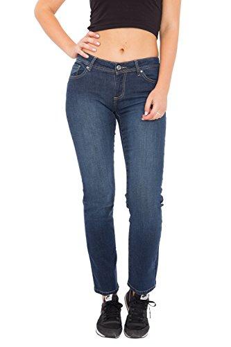 WAY OF GLORY Jeans Britney regular fit & straight leg -dark blue wash Britney Damen Regular Fit Casualmode 1001271