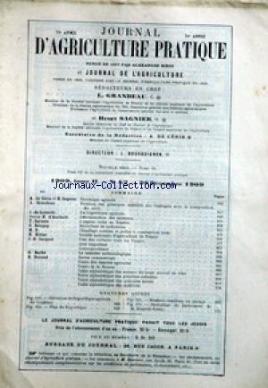 JOURNAL D'AGRICULTURE [No 1] du 07/01/1909