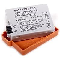 Maxsima - 1352mAh Battery Pack LP-E8, LPE8 for Canon EOS 700D 650D 600D 550D, EOS Rebel T2i, Kiss X4, T3i, 12 month replacement warranty!!