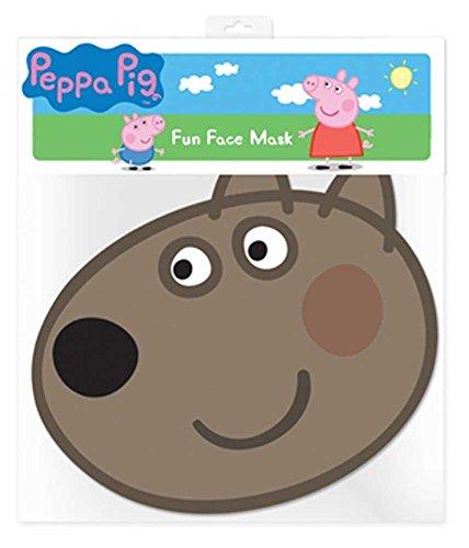 Peppa Pig Dany Dog - Maske Papp Maske, aus hochwertigem Glanzkarton mit Augenlöchern, Gummiband - Grösse ca. 30x20 cm