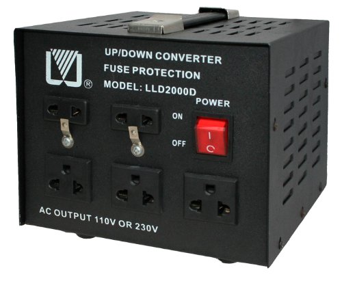 2000W USA Spannungswandler 230/220V auf 110V step-down / step-up Test
