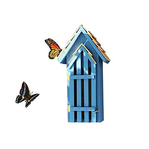 SuyunPP Insektenhaus/Kiefern-Schmetterlingsbienen-Zuflucht/Insektenhotel/Hofgarten