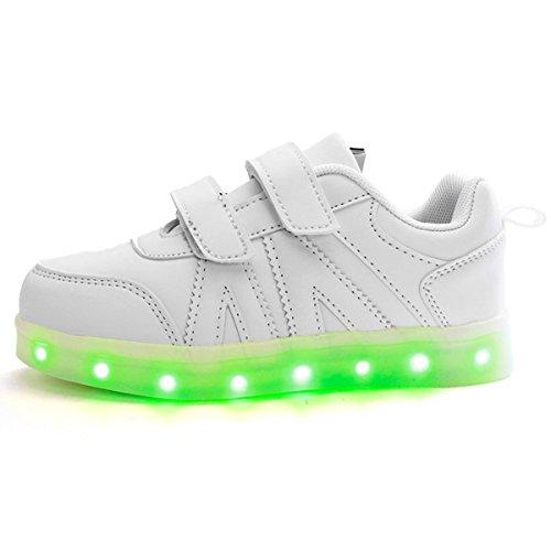 DoGeek-Zapatos-Led-Nias-Deortivos-Para-7-Color-USB-Carga-LED-Luz-Glow-USB-Flashing-Zapatillas-nio-mejor-pedir-una-talla-ms