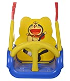 WonderKart Panda Baby Swing - With Multiple Age Settings | 4 Stages - (Blue)