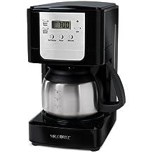 Café Jwx9 5-taza cafetera programable, con jarra de acero inoxidable