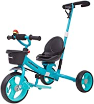 Baybee Breeze 2 in 1 Kids Tricycle Convertible Baby Tricycle Kid's Trike with Parental Adjust Push Handle