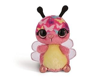 NICI 42472 doos flashies Peluche Mariposa lomsi con LED de Ojos, Multicolor