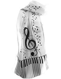 Nouvelle Société pour femme musical G de sol et notes Écharpe – Taille  Unique 8f03e4ae8ab
